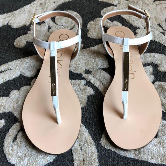 83ae6269e 🔥sale🔥Calvin Klein Samira White Sandals New